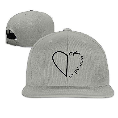 Open Your Mind Cap Hat Cute Solid Flat Bill Hip Hop Snapback Baseball Cap HAILIN - Shoes Dries Noten Van Mens