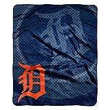 Officially Licensed MLB Detroit Tigers Raschel Plush Throw Blanket, Retro Design