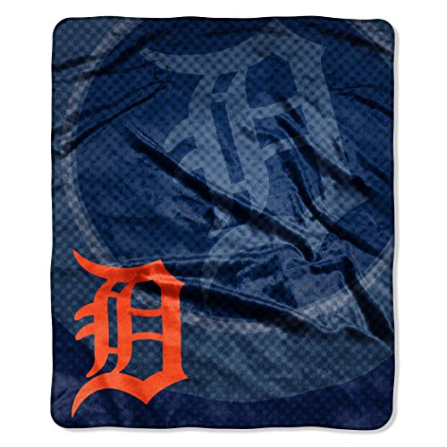 - Officially Licensed MLB Detroit Tigers Raschel Plush Throw Blanket, Retro Design