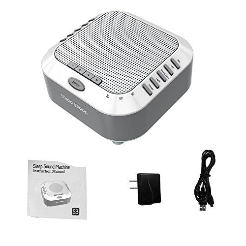 three sheep White Noise Machine Sound Machine, Music Player with Night Light, Preset 5 Soothing Sounds, Timer, and Rechargable Battery (sliver) by three sheep (Image #9)