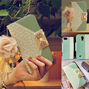 Flip Leather Lace Wallet Bow Hacd Case Cover For Samsung Galaxy Note 3 N9000-Mint