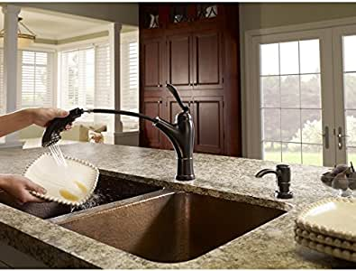 Pfister Glenfield Tuscan Bronze 1 Handle Pull Out Kitchen
