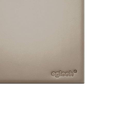 Eglooh - Clio - Protector Mesa Escritorio en Cuero Gris Paloma cm ...