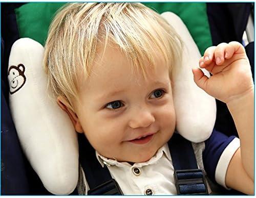 Inchant ajustable del bebé suave del cuello de apoyo a los niños Los niños pequeños Viajes coche de seguridad amortiguador de la almohadilla en forma de ...