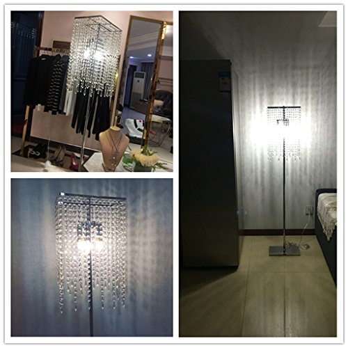 ETERN European luxury crystal floor lamp bedroom living room vertical table lighting by ETERN Floor Lamps (Image #3)