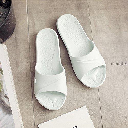 slip Bathroom Mianshe Sole Lightblue Slippers Shoes Shower Adult Sandals Unisex Soft Pool Foams C Slipper Non Mule 5FwFqfTO