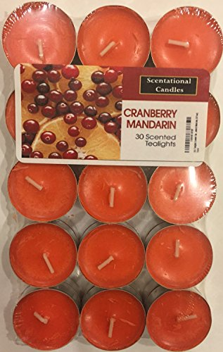 Scentsational Candles Tealight Candles - Made in the USA - Exclusive New Feature: Sealed in a Reclosable Bag to Preserve Scent and Safe Storage 30 Pack - (Crandberry - Cranberry Candles Tealight