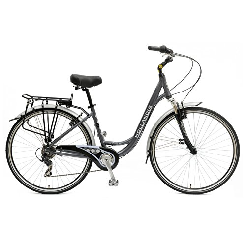 Hollandia Villa Commuter Bike, 700 c Wheels, 17 inch Frame, Women's Bike, Anthracite