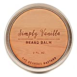 Cheap Simply Vanilla Beard Balm by The Bearded Bastard | For A More Attractive & Healthy Beard | Mens Beard Balm, Essential Oils, Hydrating | ALL NATURAL, 2oz