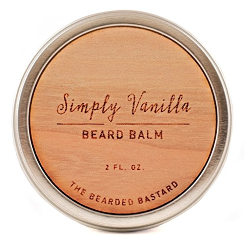 Simply Vanilla Beard Balm  2 Ounce Tin | Natural Nourishing and Conditioning Beard Balm with Lanolin, Beeswax, and Shea Butter to Calm Wild Beards, Vanilla Scented Beard Balm