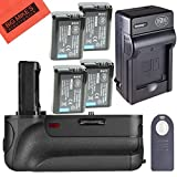 Battery Grip Kit for Sony Alpha a7, Alpha a7 II, Alpha a7R DSLR Camera (VG-C2EM replacement) - Includes Qty 4 BM Premium NP-FW50 Batteries + Battery Charger + Vertical Battery Grip