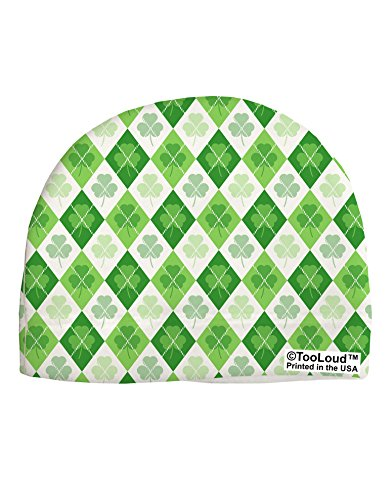 TooLoud St Patrick's Day Green Shamrock Argyle Adult Fleece Beanie Cap Hat All Over Print
