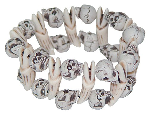Skull and Bones Stretch Bracelet Halloween Costume Jewelry