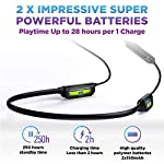 Bluetooth 5.0 Wireless Headphones – 6D Sound Effect – Up to 28 Hours Per Charge, High-End Premium Deep Bass, IPX8 Waterproof Sport in-Ear Earphones – Neckband for Running and Workouts w/ Built-In Mic