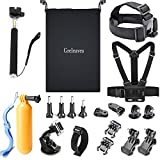 GREHOME Outdoor Sports Accessories Kit for Gopro Hero Session Hero 6 5 4 3+ 3 2 1 SJCAM SJ4000 SJ5000 SJ6000 AKASO APEMAN WiMiUS Campark Lightdow DBpower VicTsing Xiaomi Sony Sports DV (20 Items)