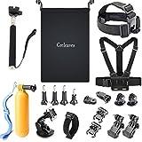 GREHOME Outdoor Sports Accessories Kit for Gopro Hero Session Hero 6 5 4 3+ 3 2 1 SJCAM SJ4000 SJ5000 SJ6000 AKASO APEMAN WiMiUS Campark Lightdow DBpower VicTsing Xiaomi Sony Sports DV (20 Items)