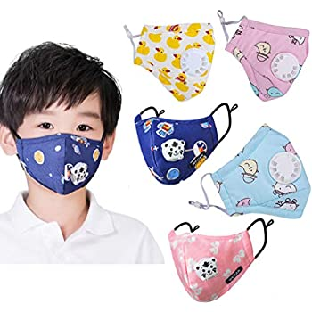 Mask Cartoon 5 Pm2 Dust Pollution Mouth Anti Kid's