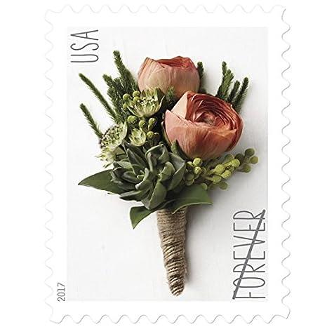 USPS Forever Stamp: Celebration Boutonniere (10 Sheets)