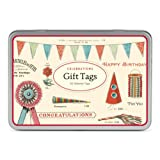 Cavallini Papers 36-Assorted Celebrations Glitter Gift Tags