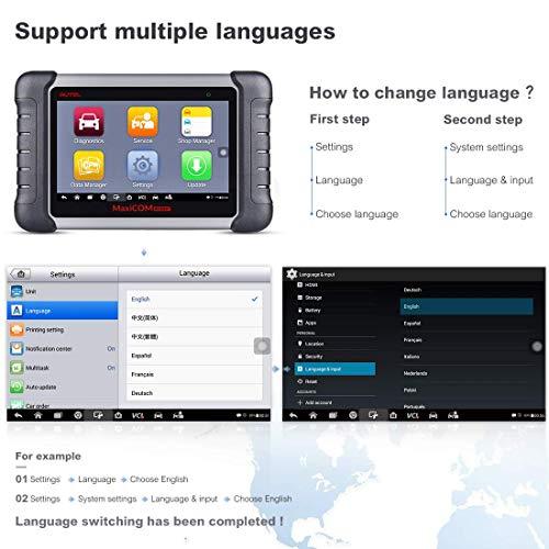 Autel MaxiCOM MK808BT Bi-Directional OBD2 Scanner Wireless Bluetooth&Full  System Car Diagnostic Tool with Oil Reset/ABS Brake