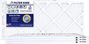 Filter King 12.5x21x1 Air Filters   4 Pack   MERV 8 HVAC Pleated AC Furnace Filters, Protection Against Mold and Pollen, Allergen Reduction, Increases Air Quality   Actual Size