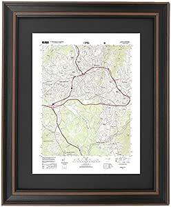 Asheville North Carolina retro Map  Print retro style map biltmore estate art