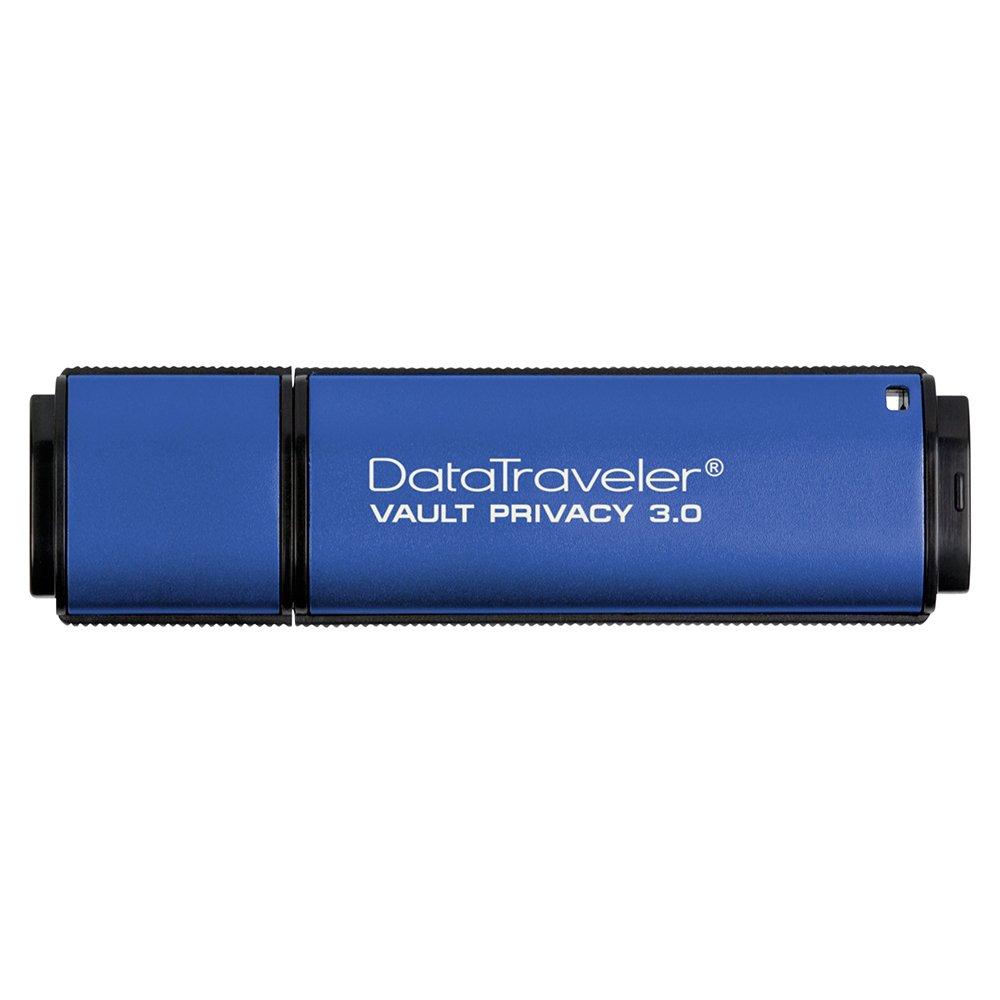 Kingston Digital 32GB Data Traveler AES Encrypted Vault Privacy 256Bit 3.0 USB Flash Drive (DTVP30/32GB) by Kingston