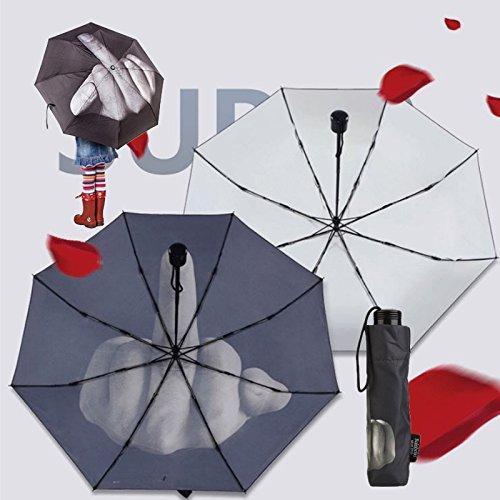 Kicode Paraguas Creative Fuck Rain plegable El gesto vertical vertical del dedo medio