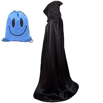 Myir Largo Capa con Capucha, Unisex Adulto Disfraz de Halloween Fiesta Disfraces Vampiro Traje (