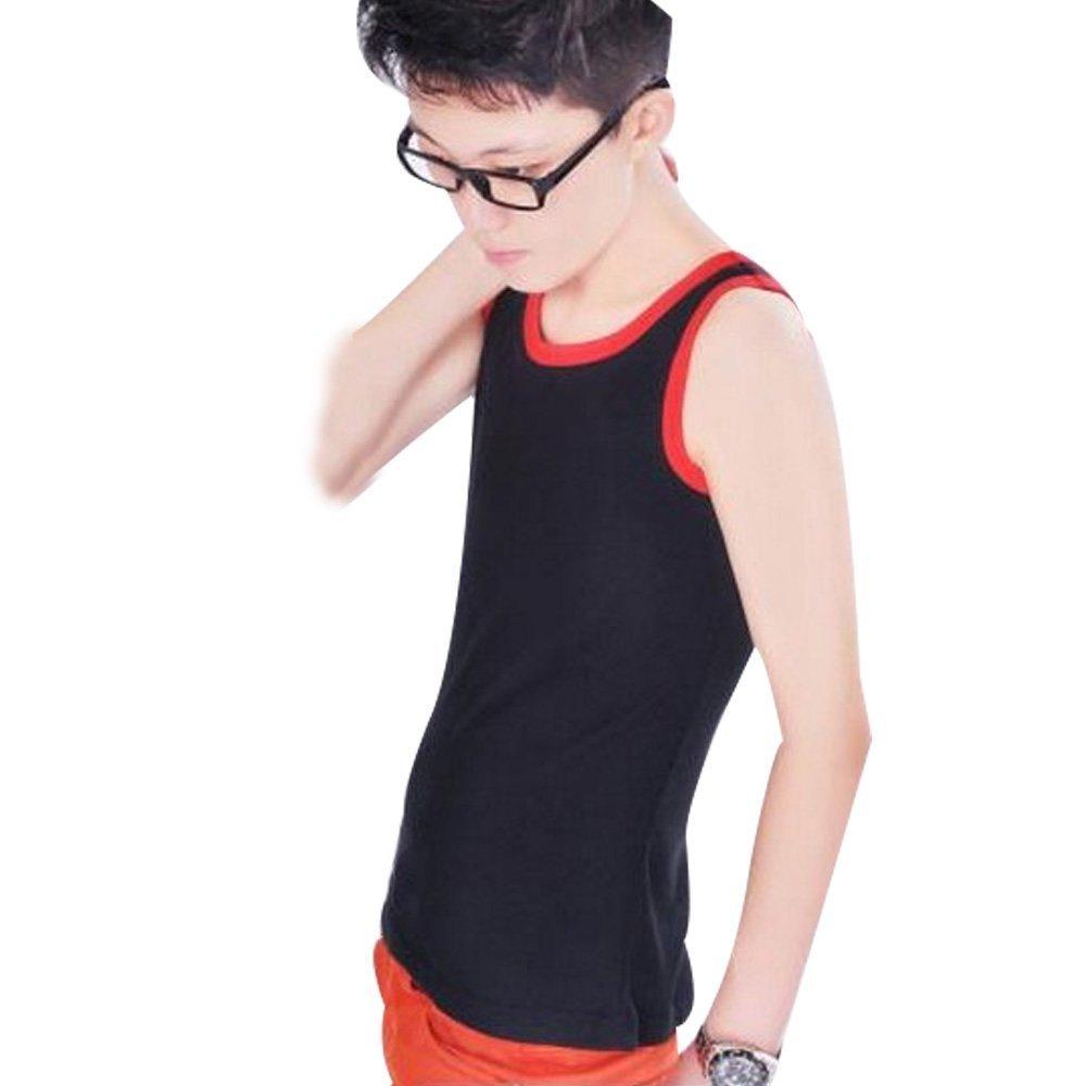 XL, Black Whatwears Les Lesbian Tomboy Chest Binder Undershirt Slim Fit Vest Tops