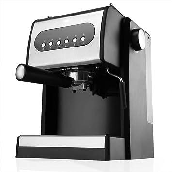 Shisky Máquina de café de alta presión de vapor máquina de café capuchino latte máquina automática de molienda doméstica y comercial: Amazon.es: Hogar