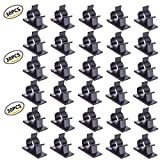 Tools & Hardware : Viaky 30 Pcs Black Clips Self Adhesive Backed Nylon Wire Adjustable Cable Clips Adhesive Cable Management Drop Wire Holder