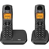 RCA 2161-2BKGA Element Series DECT 6.0Sistema de teléfono inalámbrico con identificador de llamadas (2 auriculares)