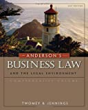 img - for Anderson's Business Law and the Legal Environment, Comprehensive Volume 21st edition by Twomey, David P., Jennings, Marianne M. (2010) Hardcover book / textbook / text book