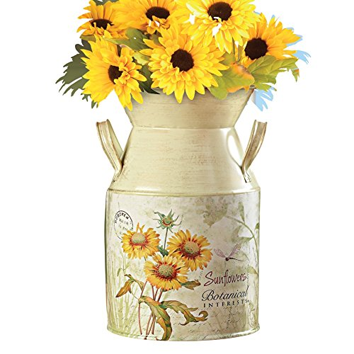 Country Style Sunflowers Milk Canister