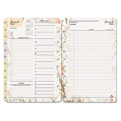 FranklinCovey® Blooms® Dated Daily Planner Refill