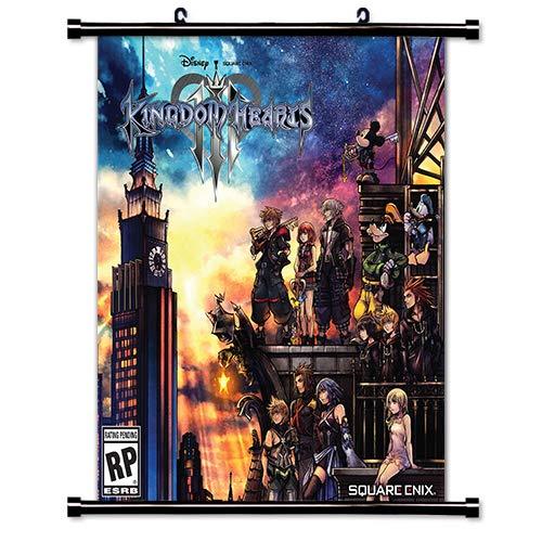 Scroll Heart (ROUNDMEUP Kingdom Hearts 3 Game Fabric Wall Scroll Poster (32x35) Inches [VG] Kingdom Hearts 3-1(L))