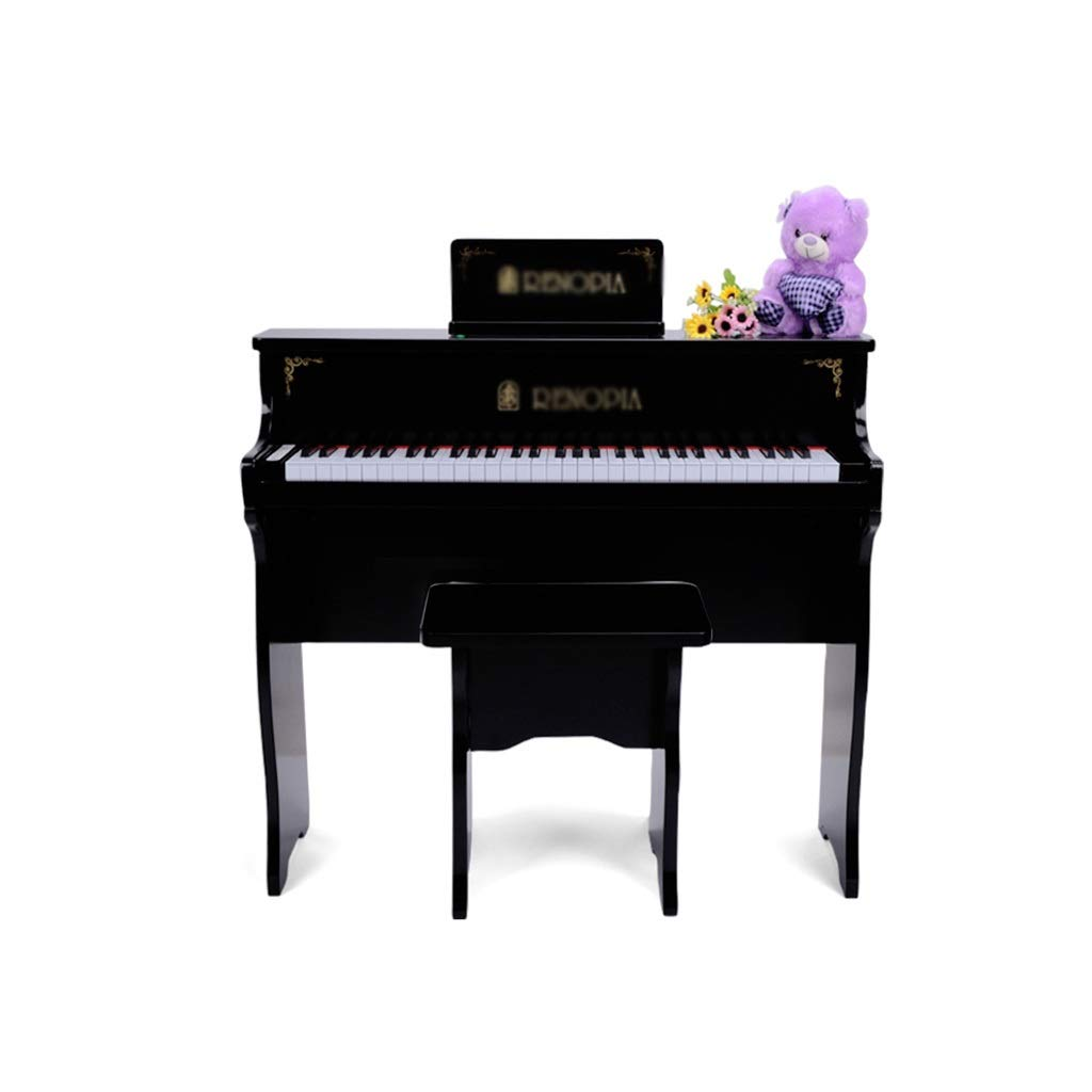 KINGLING-piano Children's Piano 61 Key Baby Children Beginner Electric Piano Wooden Early Education Toy Keyboard (Color : Black) by KINGLING-piano (Image #1)