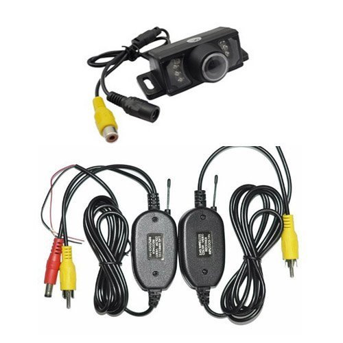 Wireless Car Backup Camera, High Definition Color Wide Viewing Angle Universal Waterproof Car Rear View License Plate Backup Camera with 7 Infrared Night Vision LED