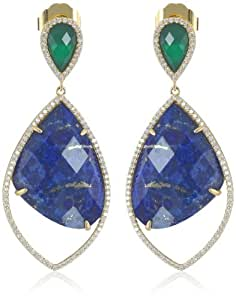 "Marcia Moran ""Mix"" Drop and Leaf Cubic-Zirconia Dangle Drop Earrings"
