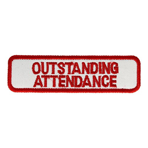 Outstanding Attendance Patch: Red