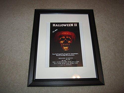 Halloween 2 1981 John Carpenter Theatrical Poster Framed Print Mini-Poster 14