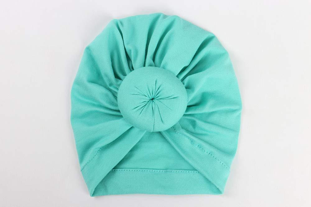 Gorro turbante para bebé, gorro de algodón con nudo de corbata ...