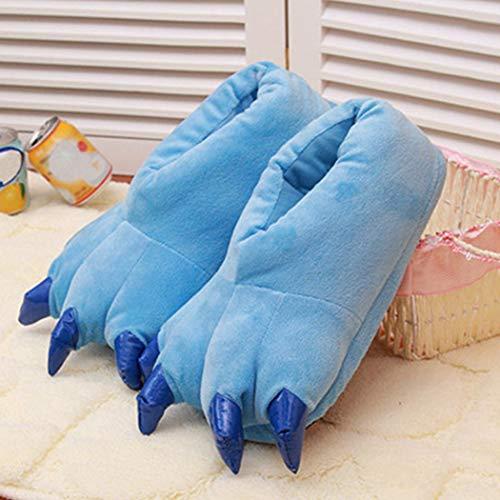Intérieur Bleu Pattes Bottes De Moelleux Femmes Mignonne Chambre Animal Chaussures D'hiver Bande Griffe Dessinée Enfants Pantoufles 4gEZEyPwxq