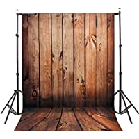 DODOING 5X7ft Silk Mahogany Color Wood Wall Floor Photography Backdrops Photo Studio Background Studio Props for Children(Updated Materia)