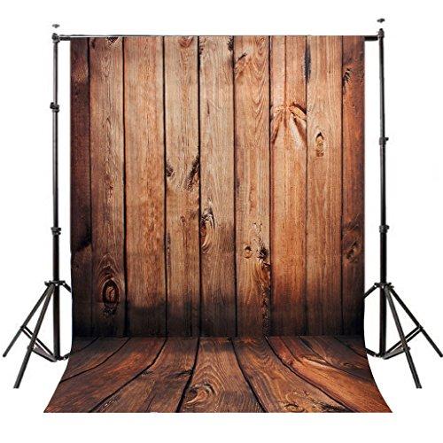 DODOING 5X7ft Wooden Wall Floor Vinyl Fabric Photography Backdrops Photo Studio Background Studio Props