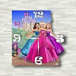 Barbie : Princess Charm School 11.8'' Handmade unique Wall Clock - Get unique décor for home or office – Best gift ideas for kids, friends, parents