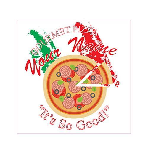 Gourmet Pizza Your Name It'S So Good Concession Restaurant Food Die-Cut Window Static Cling 48 inches Inside Glass (Gourmet Food Names)