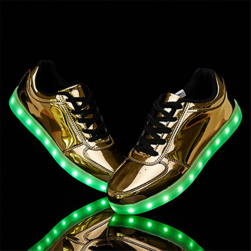 Sneakers USB Gold Sanyes Light Shoes Dancing Up Shoes Charging Sports LED 4qBzwFSqx