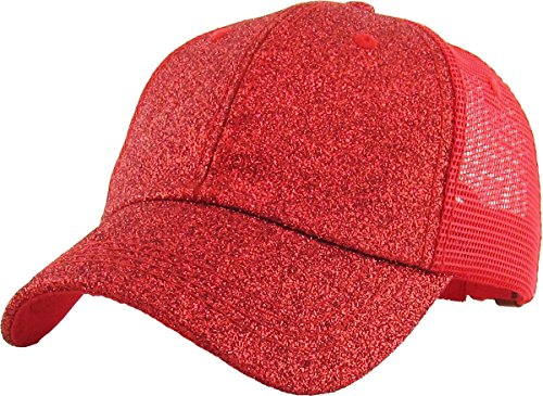KBETHOS Ponytail Messy High Bun Hat Ponycaps Adjustable Cotton Mesh Trucker  Baseball Cap (Adjustable 82529ee229da